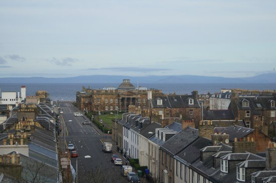 Mercure Ayr Hotel: County Hall with Arran just visible on the horizon (from the room)