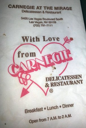 The Mirage Hotel &amp; Casino: Carnegie Deli