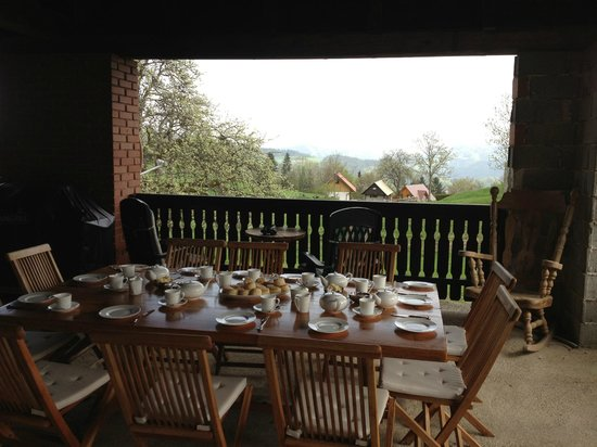 Pri Lenart Hotel: Tea in the Barn