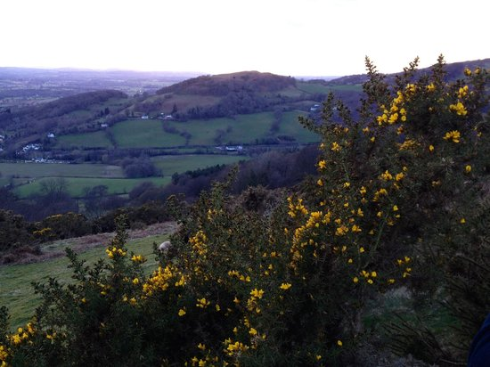Bodfari, UK: View over the valley