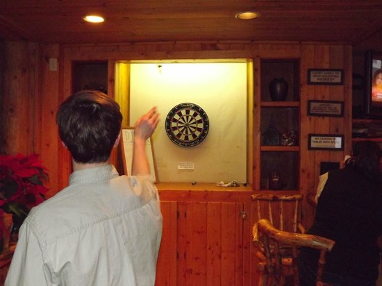 Dubois, WY: Darts at our Cowboy Bar