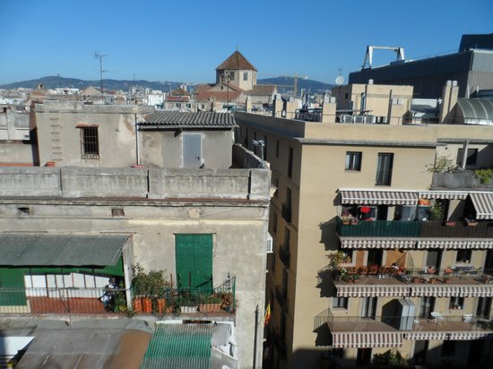 Hotel Gaudi: Our view at back of hotel