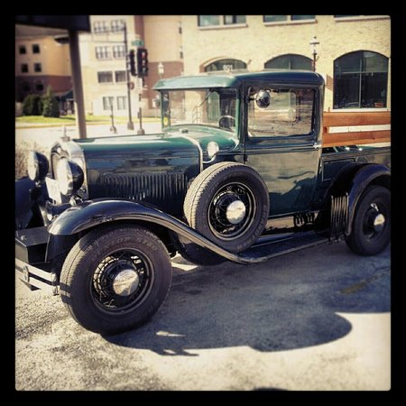 Waukesha, WI: A welcome sight at the Deli ~ our model A Ford enthusiasts!