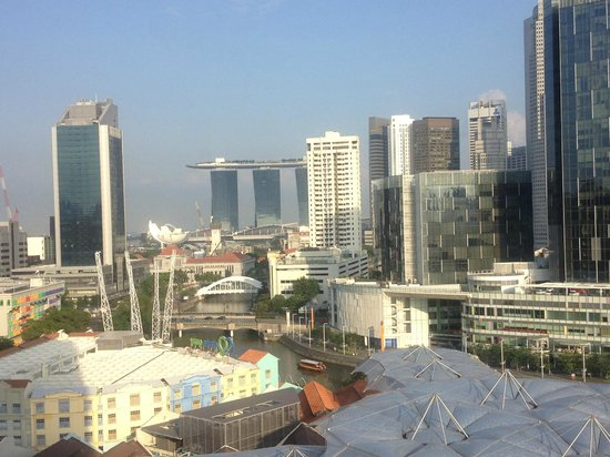 Novotel Singapore Clarke Quay: view from 12th floor towards Singapore CBD