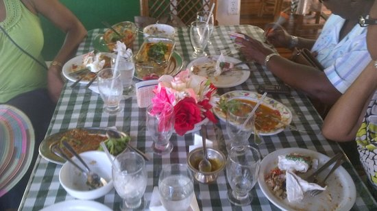 Speyside, Tobago: meal served