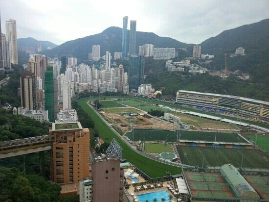 Crowne Plaza Hotel Hong Kong Causeway Bay: happy Valley race course from hotel bar top floor