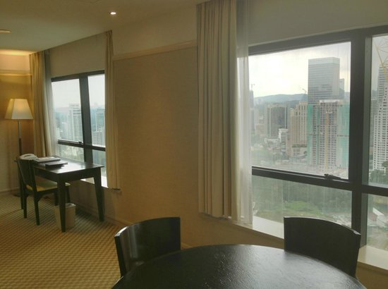 Pacific Regency Hotel Suites: Two large windows overlooking KL Tower and city.