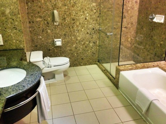 Pacific Regency Hotel Suites: The spacious and clean bathroom.