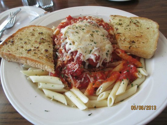 Rumney, NH: Chicken Parmesan and Penne with Marinara Sauce