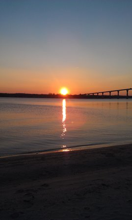 Solomons, MD: Sunset on the Pax River just across the street