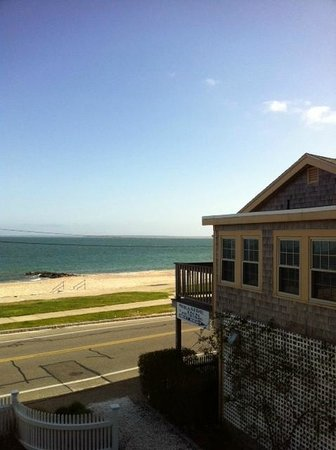 The Seaside Inn: View from 2nd floor porch