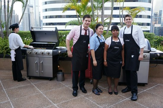JW Marriott Hotel Bangkok: bbq on executive level