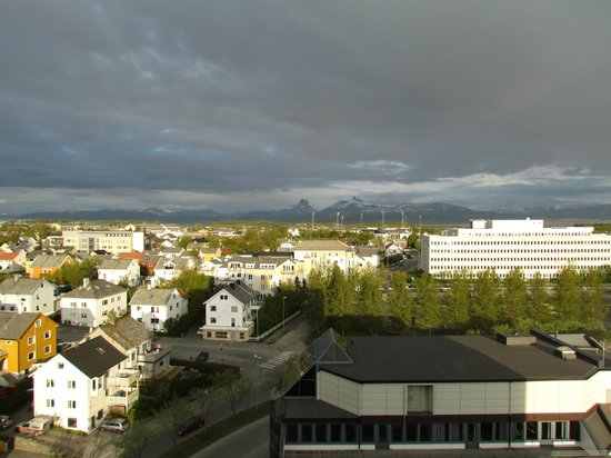 Bodo, Norvegia: View from the room towards airport