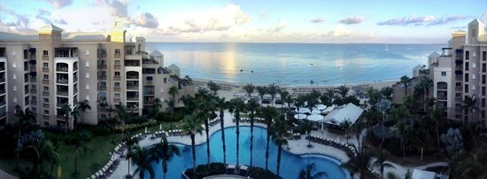 Ritz-Carlton Grand Cayman: the panoramic view from our balcony