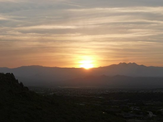 Fountain Hills, AZ: Sunrise at 5:45am - last week of April 2013