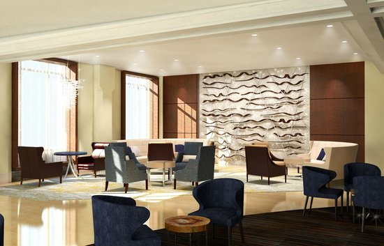 Conrad Chicago: Living Area - Lobby Level