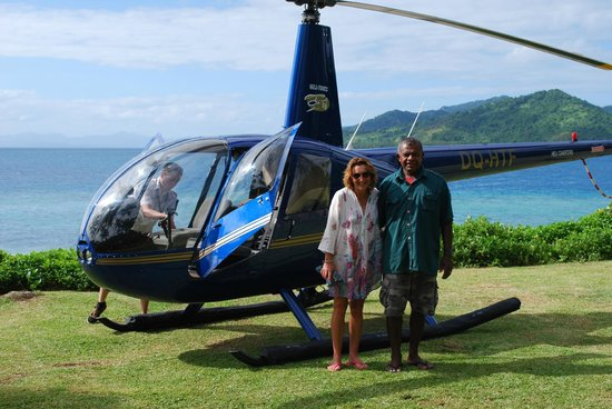 Royal Davui Island Resort: If you get the chance to do a scenic flight you'll love it, if room take one of the island team