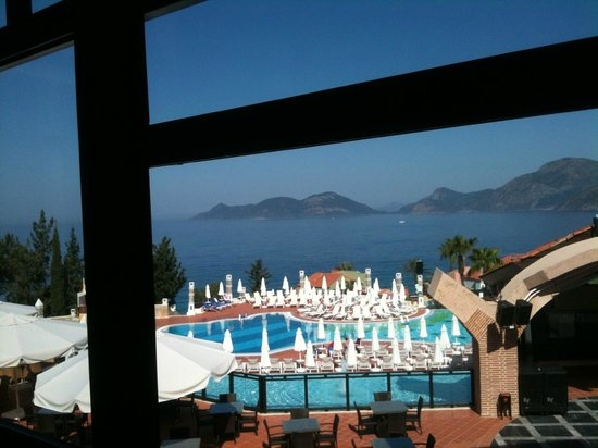 Lykia World Oludeniz: view from village retaurant at breakfast time!!!