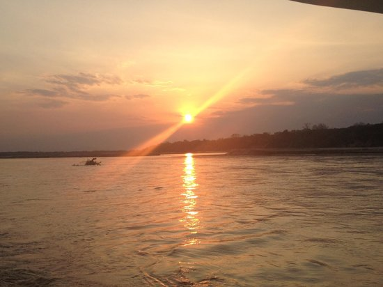 Selous Game Reserve, Tanzania: beautiful sunset on the river