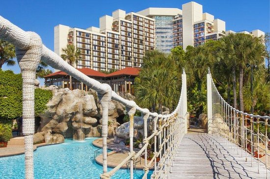 Hyatt Regency Grand Cypress: Rope Bridge