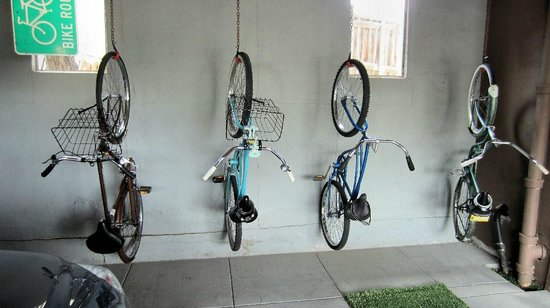 The Motor Lodge: Bikes in carport
