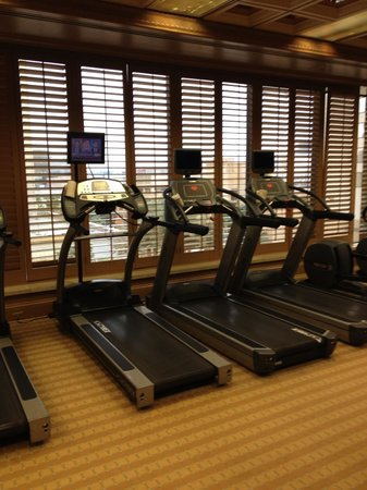 Golden Nugget: cardio room in the gym/spa