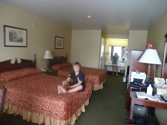 Castle Inn and Suites: Our room