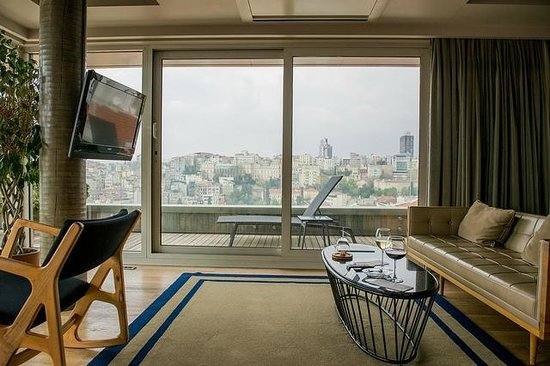 Witt stanbul Hotel: view from panoramic roof top