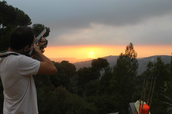 Jezzine, Lübnan: Pinea Activities: Trap shooting