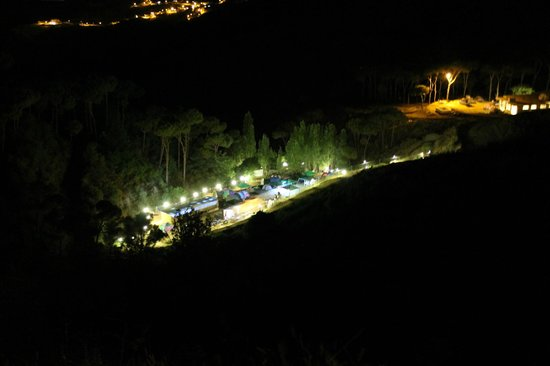 Jezzine, Lebanon: The campground at night