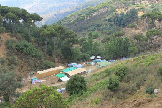 Jezzine, Lübnan: View of the campground from above