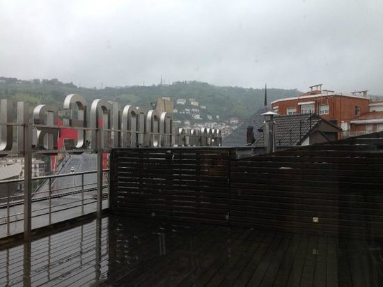 View from the rooftop gym picture of silken gran hotel - Grand hotel domine bilbao ...