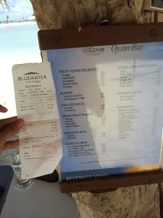 Bluewater Maribago Beach Resort: banana shake over charge