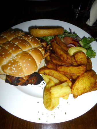 Middlewich, UK: Chicken breast burger.