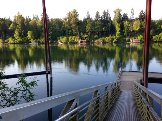 Newberg, OR : The Champoeg River from the boat dock