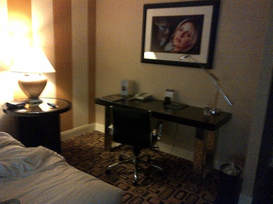 Planet Hollywood Resort &amp; Casino: Desk and &quot;Buffy&quot; photo