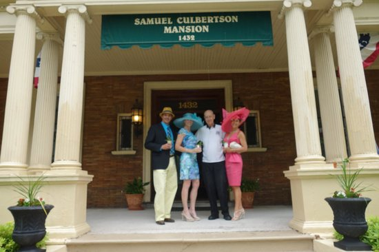 The Samuel Culbertson Mansion Bed and Breakfast Inn: Mint Juleps on the Front Porch with Rudy