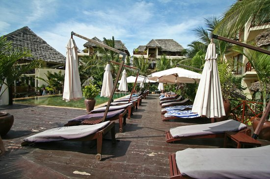 The Z Hotel Zanzibar: Swimming pool and lounge chairs