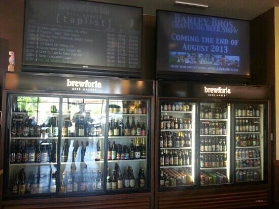 Meridian, ID: Beer cooler & Tap Menu.