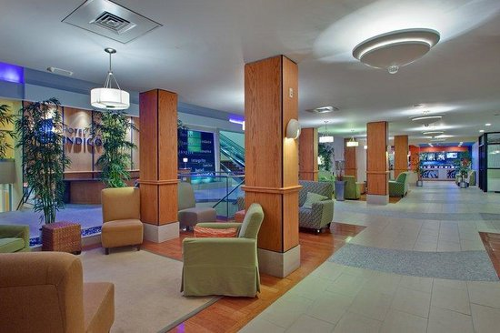 Hotel Indigo: Our hotel lobby is spacious and welcoming