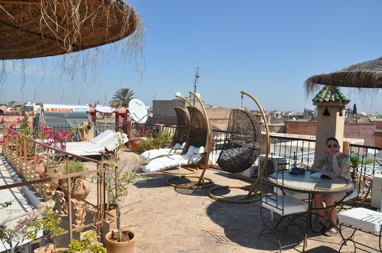 Riad Mur Akush: The terrace.