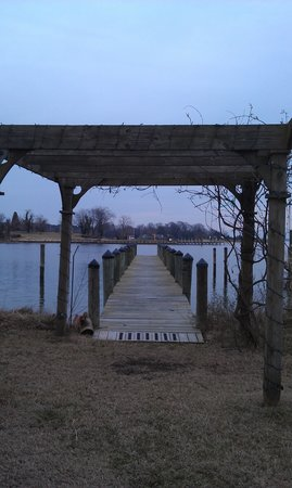 Solomons, MD: Arbor and dock on the Back Creek