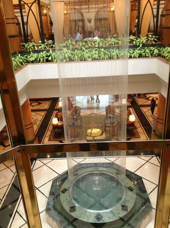 Orchid Mumbai: View from the elevator to the lobby