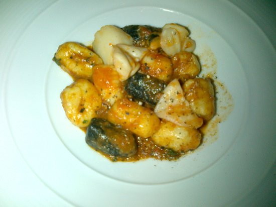 Potato Gnocchi with seafood and light tomato sauce - Picture of ...