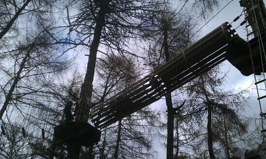 Banchory, UK: Go ape tunnel, at Crathes