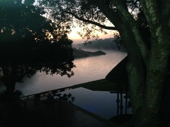 Balule Private Game Reserve,  : View of river at dawn