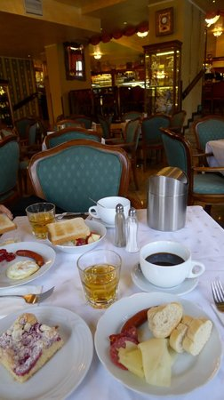 Nice breakfast at Grand Hotel Praha (Cafe Mozart)