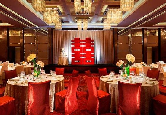 Hong Kong SkyCity Marriott Hotel: Ballroom - Chinese Banquet Setup