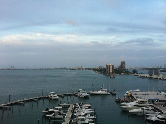 Doubletree by Hilton Grand Hotel Biscayne Bay: View of the boats from the area by the pool