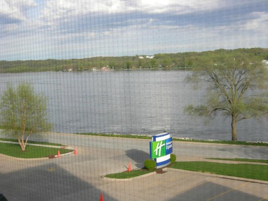 Le Claire, : View from our room